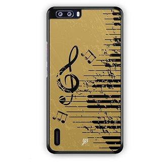 YuBingo Musical Notes Designer Mobile Case Back Cover for Huawei Honor 6 Plus