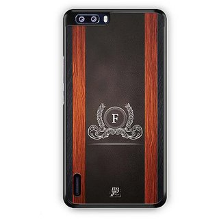 YuBingo Monogram with Beautifully Written Wooden and Leather (Plastic) Finish letter F Designer Mobile Case Back Cover for Huawei Honor 6 Plus
