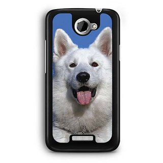 YuBingo White Dog Designer Mobile Case Back Cover for HTC One X
