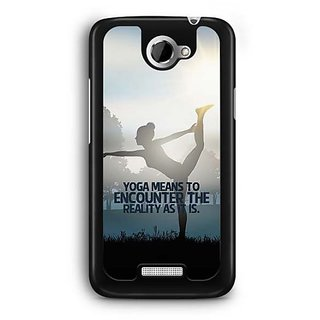 YuBingo Encounter the reality Designer Mobile Case Back Cover for HTC One X