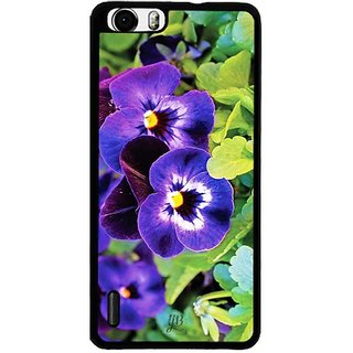 YuBingo Purple flowers Designer Mobile Case Back Cover for Huawei Honor 6