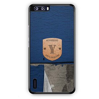 YuBingo Monogram with Beautifully Written Wooden and Metal (Plastic) Finish letter Y Designer Mobile Case Back Cover for Huawei Honor 6 Plus