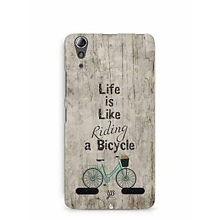YuBingo Life is Like Riding a Bicycle Designer Mobile Case Back Cover for Lenovo A6000 / A6000 Plus