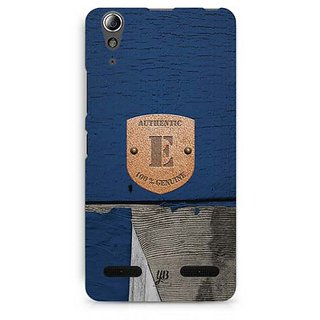 YuBingo Monogram with Beautifully Written Wooden and Metal (Plastic) Finish letter E Designer Mobile Case Back Cover for Lenovo A6000 / A6000 Plus