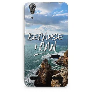 YuBingo Because I Can Designer Mobile Case Back Cover for Lenovo A6000 / A6000 Plus