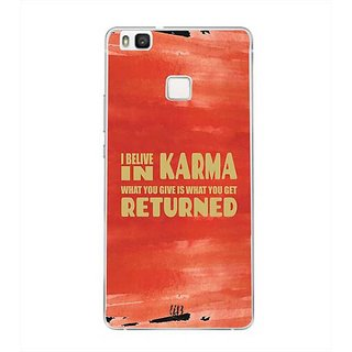 YuBingo I Believe in Karma Designer Mobile Case Back Cover for Huawei P9 Lite