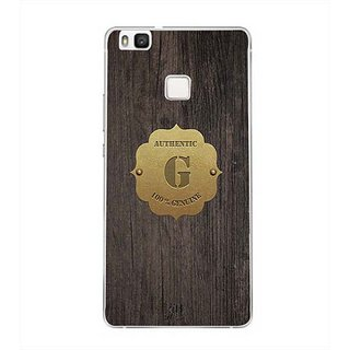YuBingo Monogram with Beautifully Written Wooden and Metal (Plastic) Finish letter G Designer Mobile Case Back Cover for Huawei P9 Lite