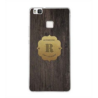 YuBingo Monogram with Beautifully Written Wooden and Metal (Plastic) Finish letter R Designer Mobile Case Back Cover for Huawei P9 Lite