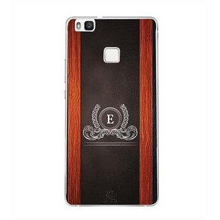 YuBingo Monogram with Beautifully Written Wooden and Leather (Plastic) Finish letter E Designer Mobile Case Back Cover for Huawei P9 Lite