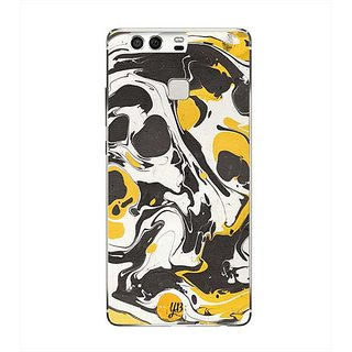 YuBingo Yellow Black Marble Finish (Plastic) Designer Mobile Case Back Cover for Huawei P9