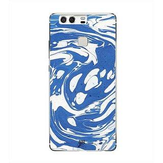 YuBingo Blue White Marble Finish (Plastic) Designer Mobile Case Back Cover for Huawei P9