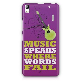 YuBingo Music Speaks Where Words Fail Designer Mobile Case Back Cover for Lenovo A7000 / K3 Note