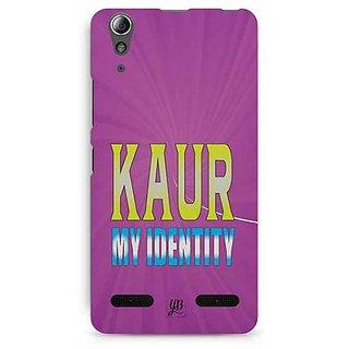 YuBingo Kaur, My Identity Designer Mobile Case Back Cover for Lenovo A6000 / A6000 Plus