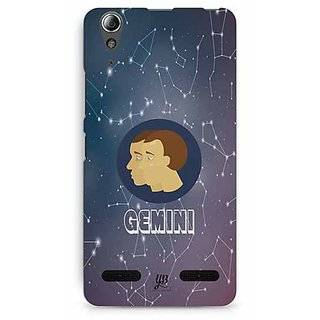 YuBingo Gemini Designer Mobile Case Back Cover for Lenovo A6000 / A6000 Plus