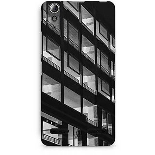 YuBingo Black & White Building Designer Mobile Case Back Cover for Lenovo A6000 / A6000 Plus