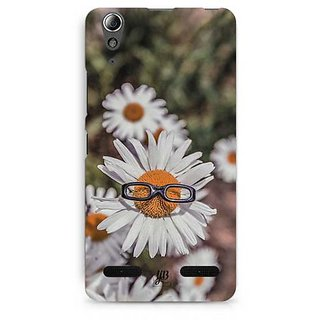 YuBingo Sunflower wearing glasses Designer Mobile Case Back Cover for Lenovo A6000 / A6000 Plus