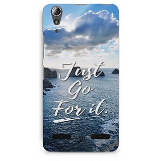 YuBingo Just Go For It Designer Mobile Case Back Cover for Lenovo A6000 / A6000 Plus