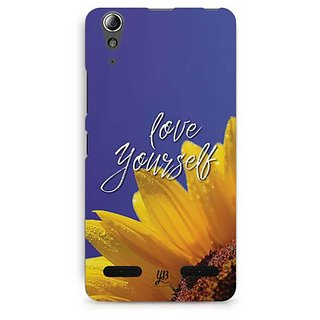 YuBingo Love Yourself Designer Mobile Case Back Cover for Lenovo A6000 / A6000 Plus