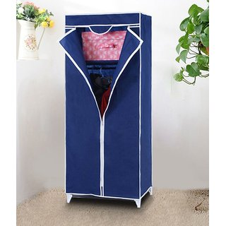 Single Door Foldable Collapsable Wardrobe Cupboard Storage Cabinate Almirah Rack