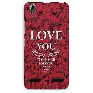 YuBingo Love You Forever Designer Mobile Case Back Cover for Lenovo A6000 / A6000 Plus