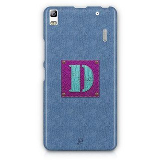 YuBingo Monogram with Beautifully Written Jeans and Girly Leather Finish letter D Designer Mobile Case Back Cover for Lenovo A7000 / K3 Note