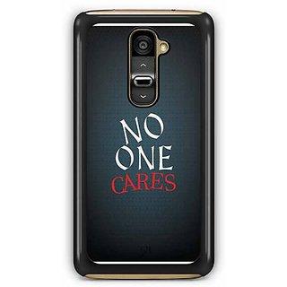 YuBingo No One Cares Designer Mobile Case Back Cover for LG G2