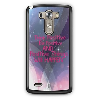 YuBingo Think Positive Designer Mobile Case Back Cover for LG G3
