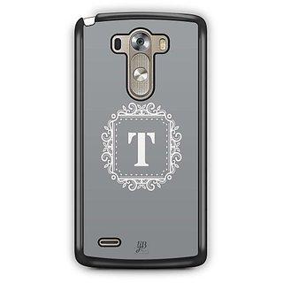 YuBingo Monogram with Beautifully Written letter T Designer Mobile Case Back Cover for LG G3