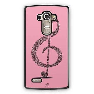 YuBingo Pink Musical Note Designer Mobile Case Back Cover for LG G4