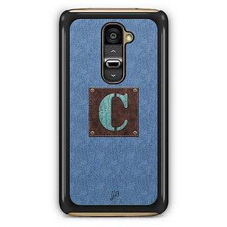 YuBingo Monogram with Beautifully Written Jeans and Macho Male Leather Finish letter C Designer Mobile Case Back Cover for LG G2