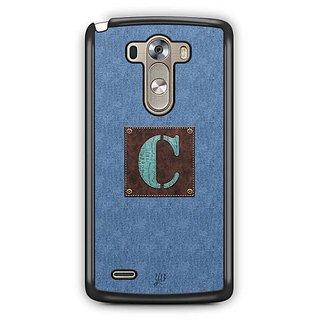 YuBingo Monogram with Beautifully Written Jeans and Macho Male Leather Finish letter C Designer Mobile Case Back Cover for LG G3