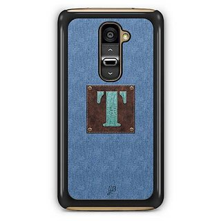 YuBingo Monogram with Beautifully Written Jeans and Macho Male Leather Finish letter T Designer Mobile Case Back Cover for LG G2