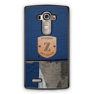 YuBingo Monogram with Beautifully Written Wooden and Metal (Plastic) Finish letter Z Designer Mobile Case Back Cover for LG G4