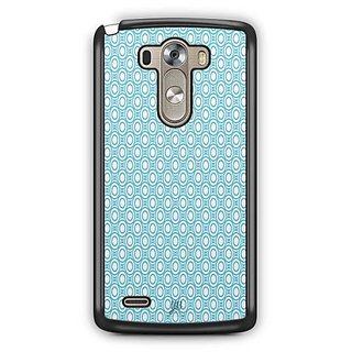 YuBingo Blue circles Pattern Designer Mobile Case Back Cover for LG G3