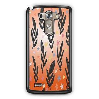 YuBingo Flowers and leaves pattern Designer Mobile Case Back Cover for LG G3