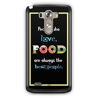 YuBingo Food Lovers are Best People Designer Mobile Case Back Cover for LG G3