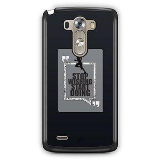 YuBingo Stop Wishing, Start Doing Designer Mobile Case Back Cover for LG G3