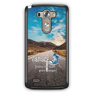 YuBingo Distance makes the Heart Grow Stronger Designer Mobile Case Back Cover for LG G3