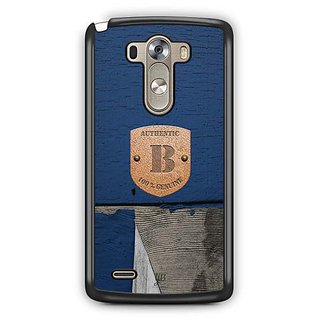 YuBingo Monogram with Beautifully Written Wooden and Metal (Plastic) Finish letter B Designer Mobile Case Back Cover for LG G3
