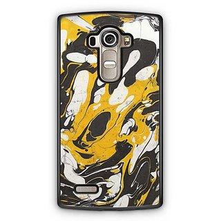 YuBingo Yellow Black Marble Finish (Plastic) Designer Mobile Case Back Cover for LG G4