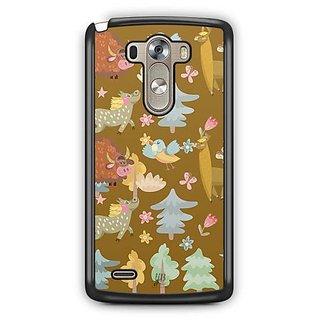 YuBingo Animals, birds and Trees Designer Mobile Case Back Cover for LG G3