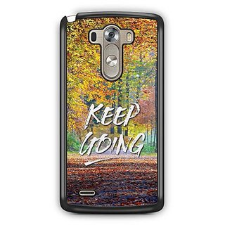 YuBingo Keep Going Designer Mobile Case Back Cover for LG G3