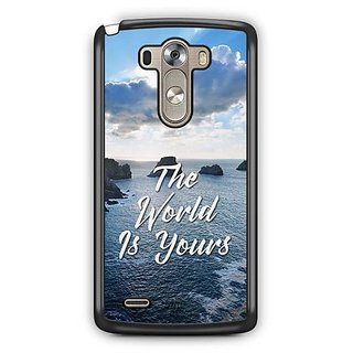 YuBingo The World is Yours Designer Mobile Case Back Cover for LG G3