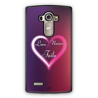 YuBingo Love Never Fails Designer Mobile Case Back Cover for LG G4