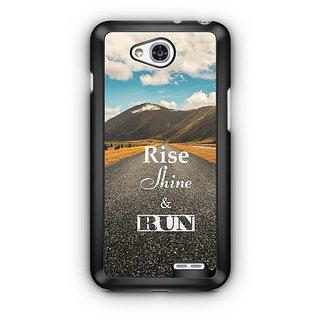 YuBingo Rise, Shine & Run Designer Mobile Case Back Cover for LG L90