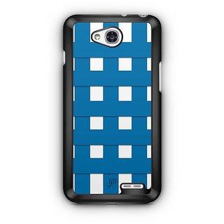 YuBingo Blue Square Pattern Designer Mobile Case Back Cover for LG L90