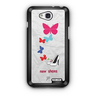 YuBingo New Shoes & Butterflies Designer Mobile Case Back Cover for LG L90