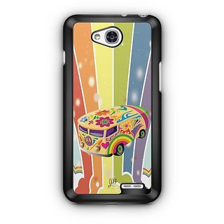 YuBingo Colourful Stylish Bus Designer Mobile Case Back Cover for LG L90