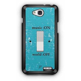 YuBingo Music on, World Off Designer Mobile Case Back Cover for LG L90