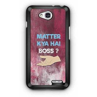 YuBingo What's the Matter, Boss? Designer Mobile Case Back Cover for LG L90